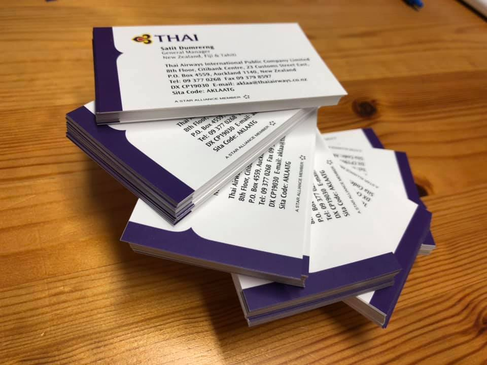 Business Cards Thai Airways